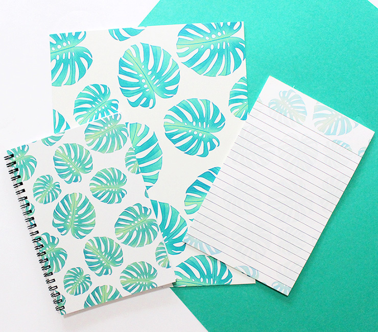 palm leaf stationery set