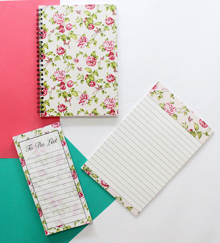 small floral stationery