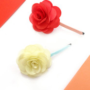 How to make flower hair clips in 10 minutes or less!