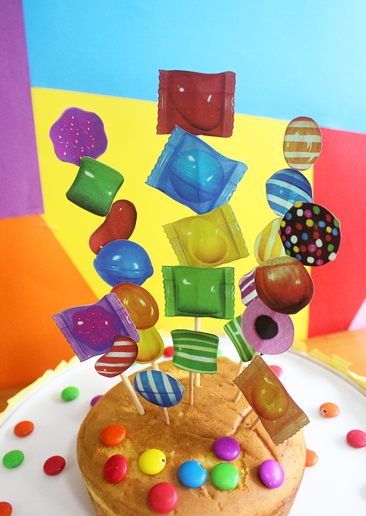 Candy Crush Cake Stand and Toppers