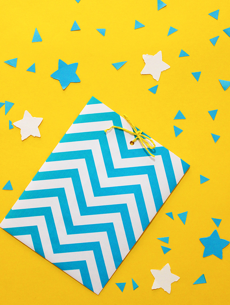 Chevron printable wrapping paper bag