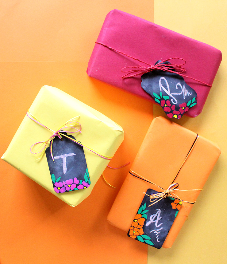 How to make DIY chalkboard tags for gifts