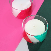 How to make candle holders with nail polish color block candle votives