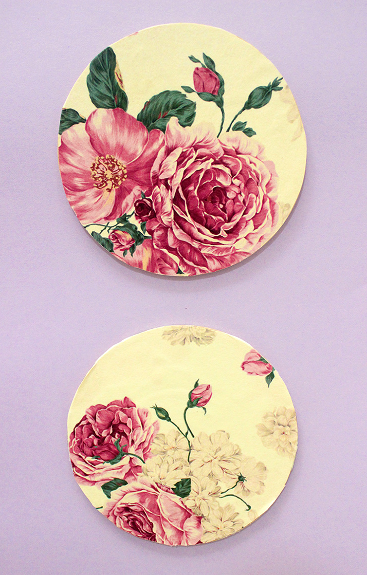 decoupage diy coasters