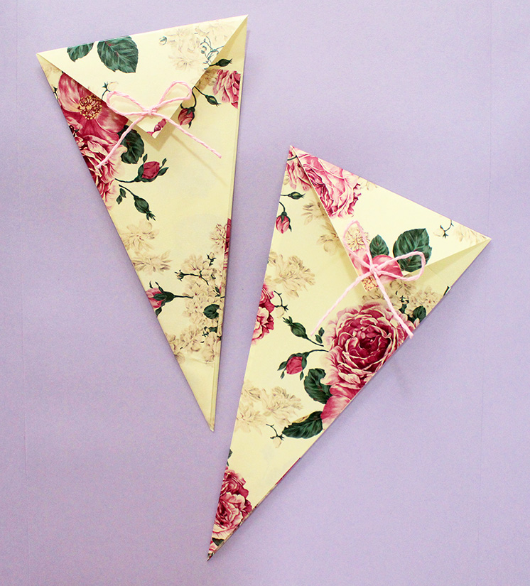 diy paper cones tutorial