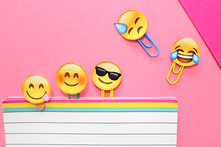 image relating to Printable Emoji Pictures identified as Do it yourself Printable Emoji Stationery Pins The Craftables