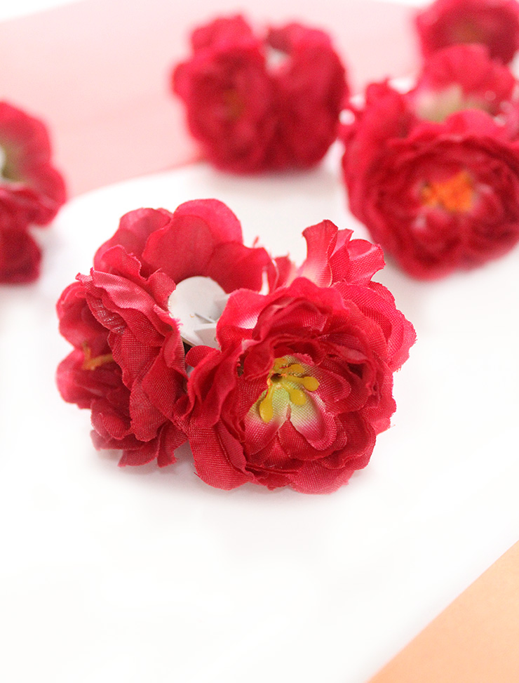 How to make flower hair clips in 10 mins the craftables artificial flowers mightylinksfo
