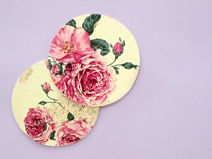 how to make decoupage coasters
