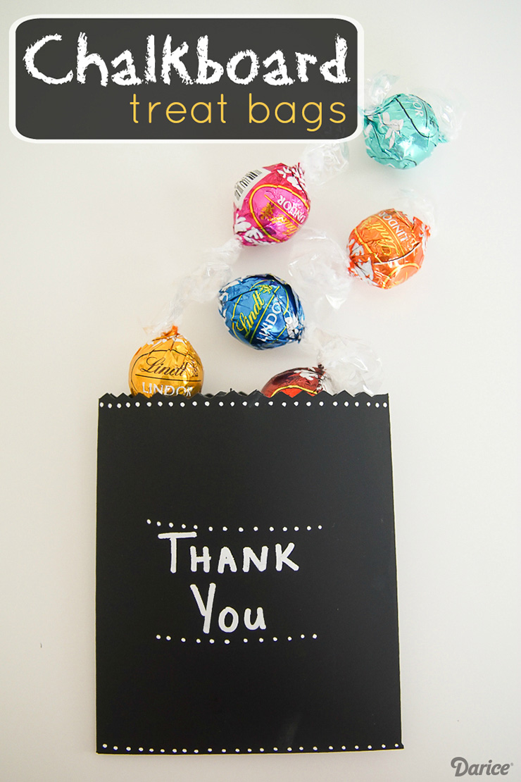Blackboard treat bags