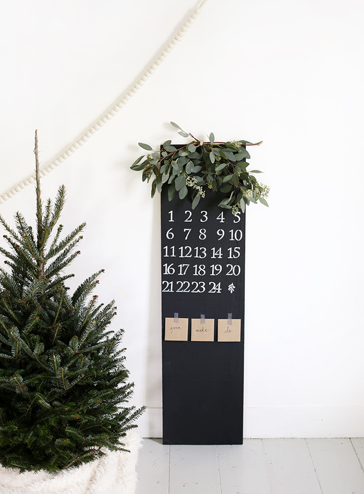 chalkboard advent
