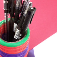DIY stationery - pen holder