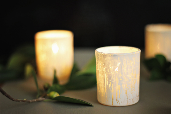 Shabby White Votives by Tales From The Cusp