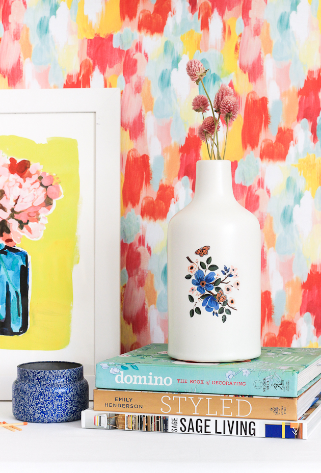 DIY Temporary Tattoo Vases by The Crafted Life