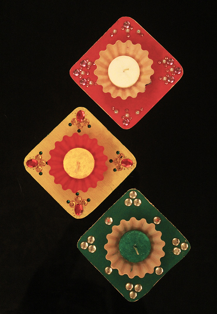 DIY Diwali Tea Light Holders