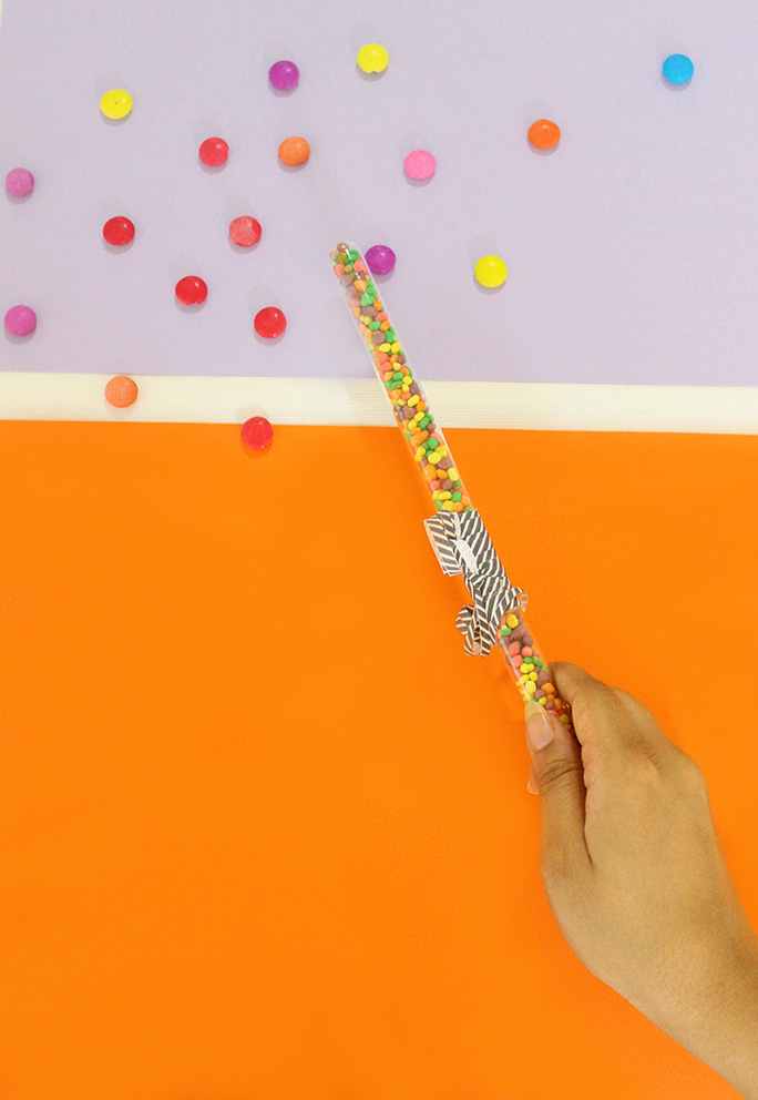 Easy to make DIY Halloween Candy Wands