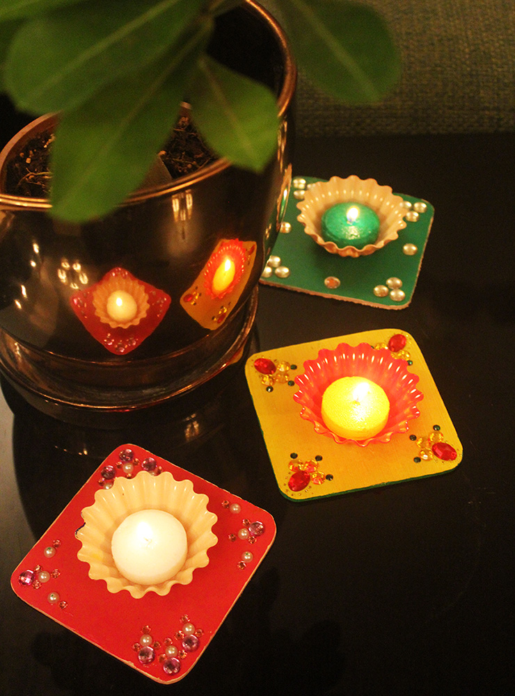 Easy to make diyas