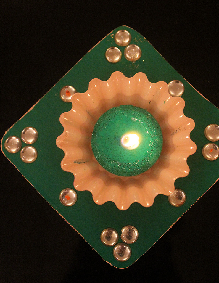 How to make Diwali Tea Light Holders