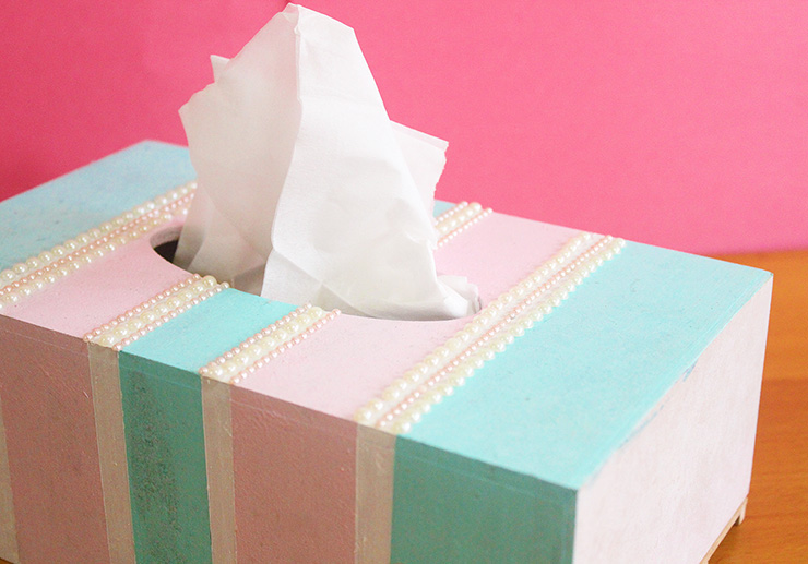 Pretty Pastels DIY Tissue Box Crafts | The Craftables