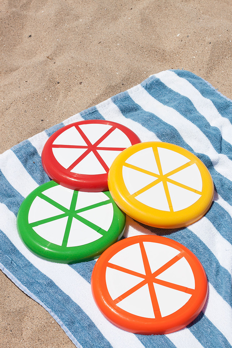 Citrus Slice Frisbees