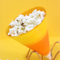 easy halloween crafts candy corn popcorn holders