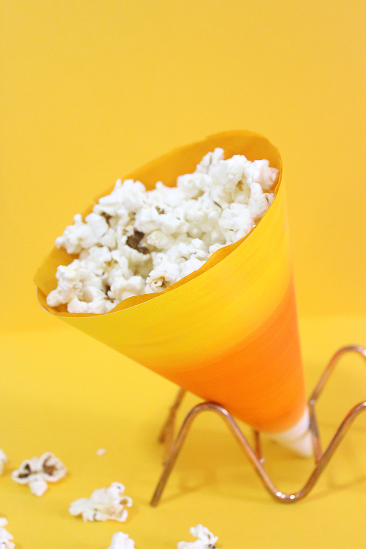 candy corn popcorn holders