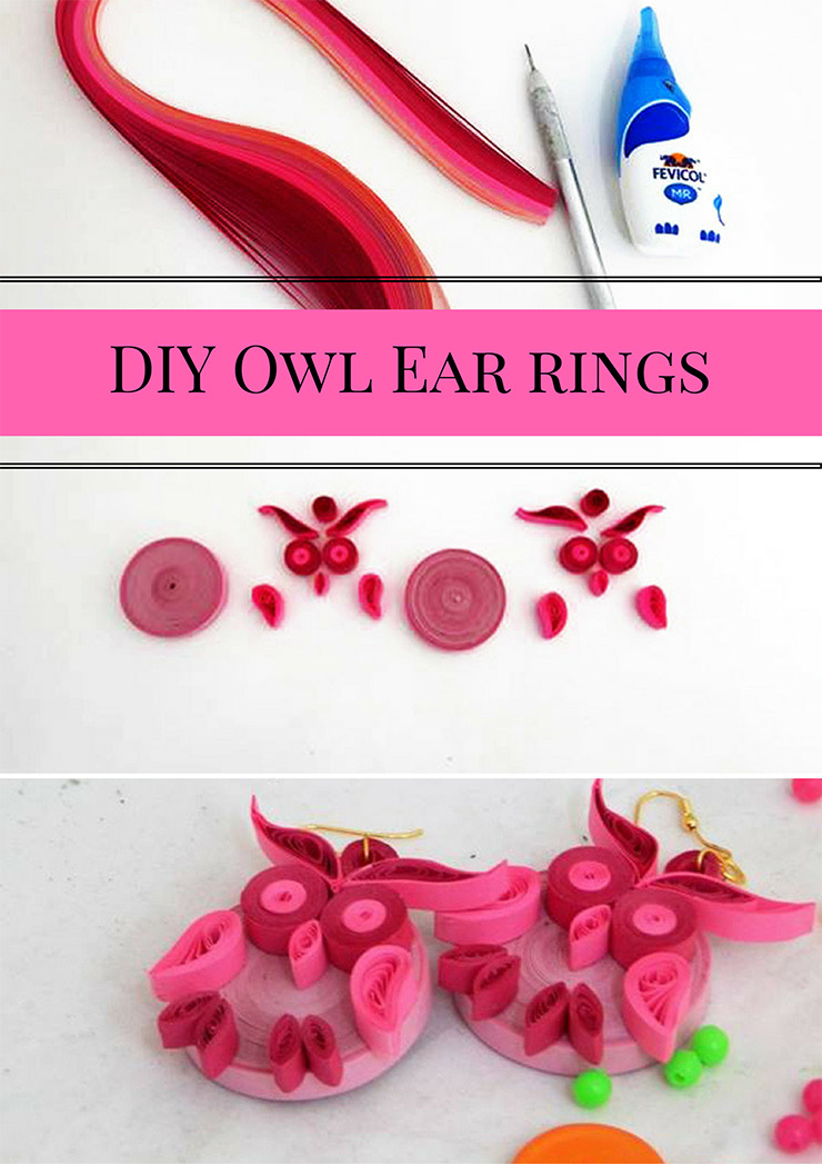 DIY Owl Ear rings by Hobby Ideas