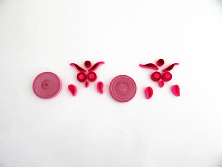 Quilling ear rings