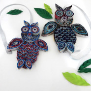 Newspaper Owl Ornaments for Christmas!