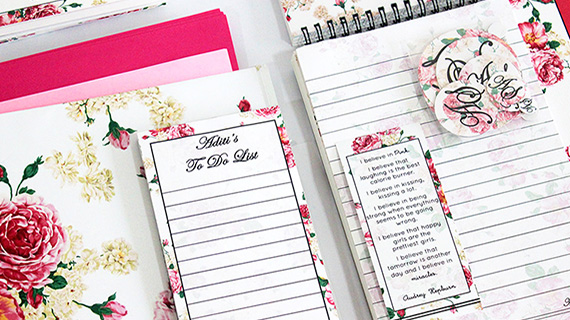 Making Customised Stationery w/ Florals!