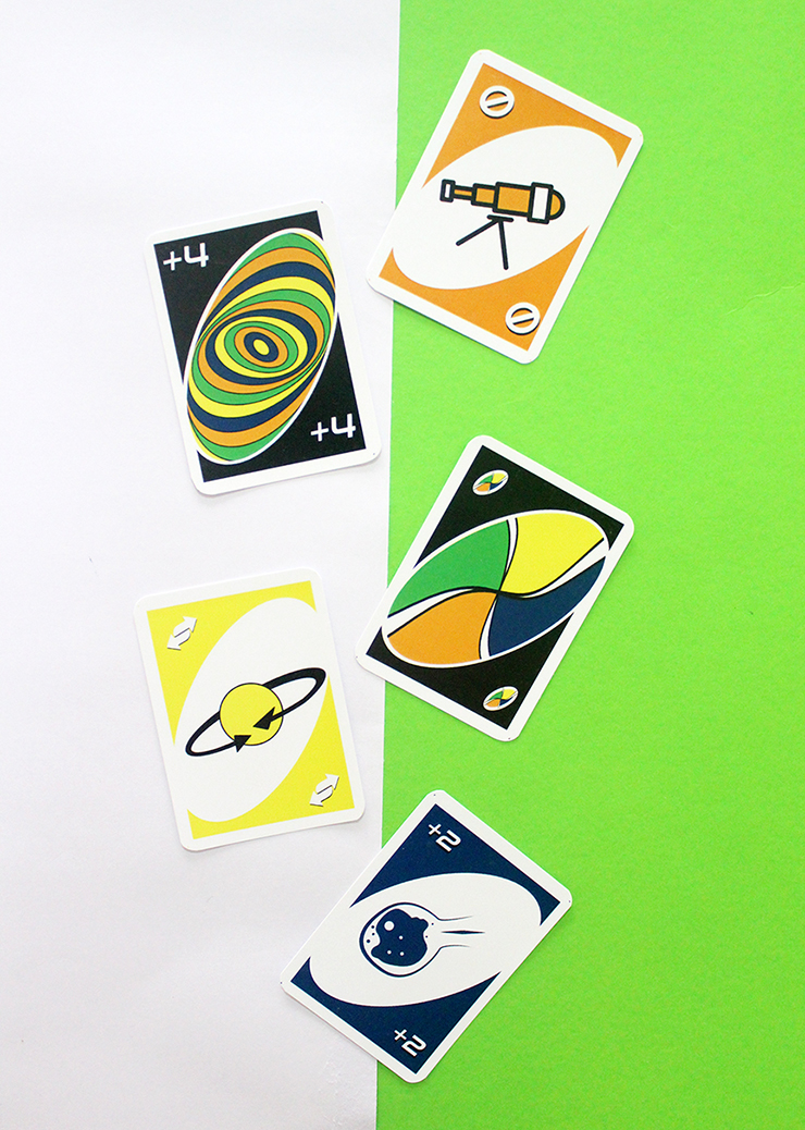 Customised Game Ideas - Themed UNO card game for party favours