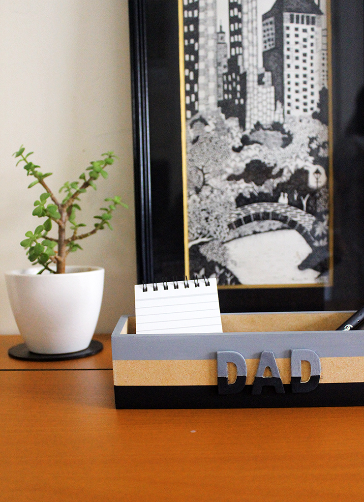 Easy how to make diy dad catchall tutorial