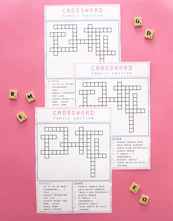 Provide the clues and we will do the rest! Have a custom made crossword puzzle designed at The Craftables