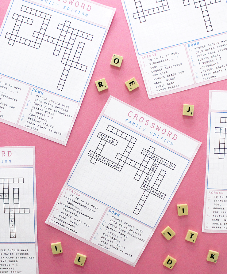 Order a customised themed crossword puzzle on The Craftables #gamenight #makeityourown #personalised #colourlovers