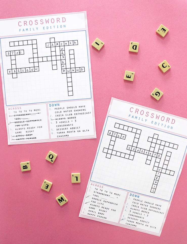 Place an order for customised crossword puzzle printable papercrafts