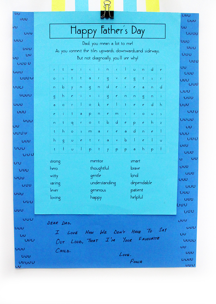 Do it yourself craft idea for father's day puzzle cards printable