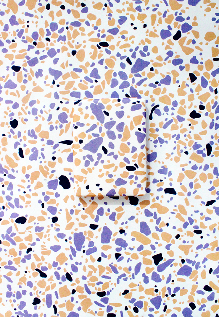 graphic regarding Printable Wrapping Paper known as Printable Terrazzo Wrapping Paper The Craftables