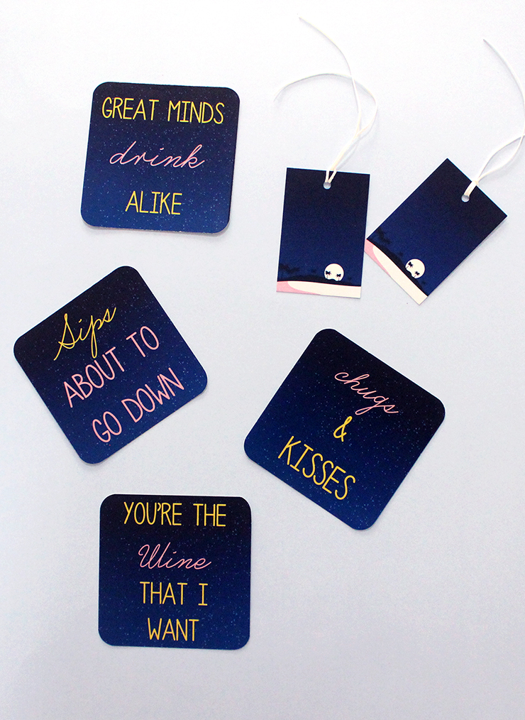 download and print free Printable Puntastic Party Coasters!