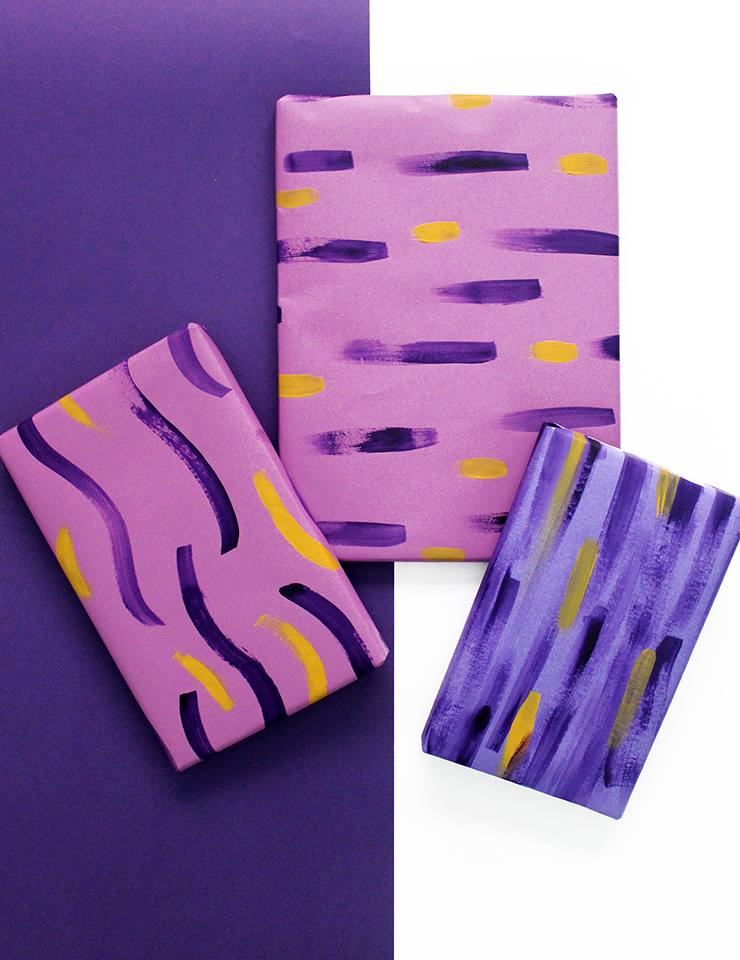 Easy Gift Wrapping with Brushstrokes!