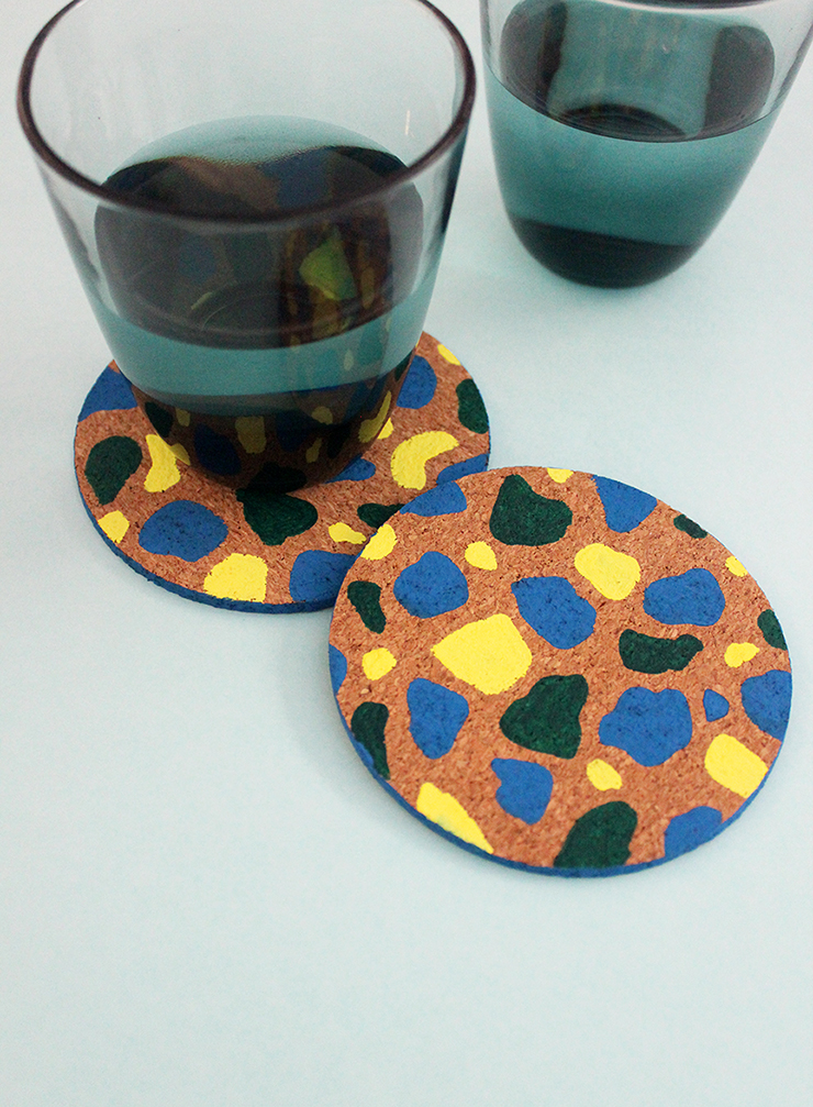 How to make customised coasters with paint | DIY Terrazzo Coasters | The Craftables