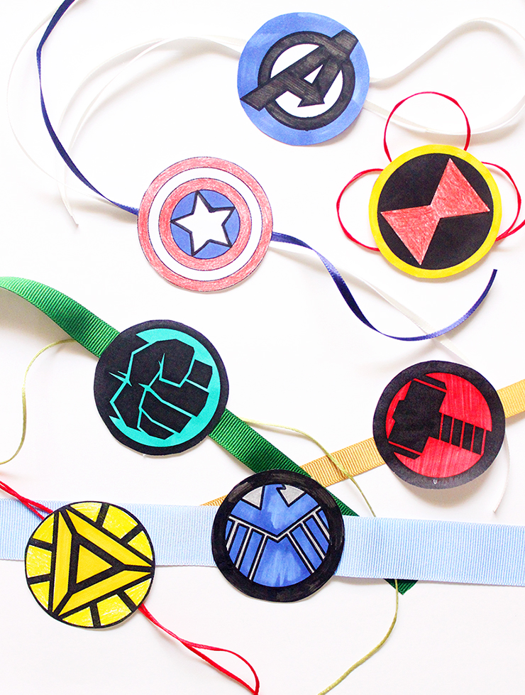 Colouring Sheets Kids Crafts | Printable Rakhis | Marvel Themed | The Craftables Tutorial