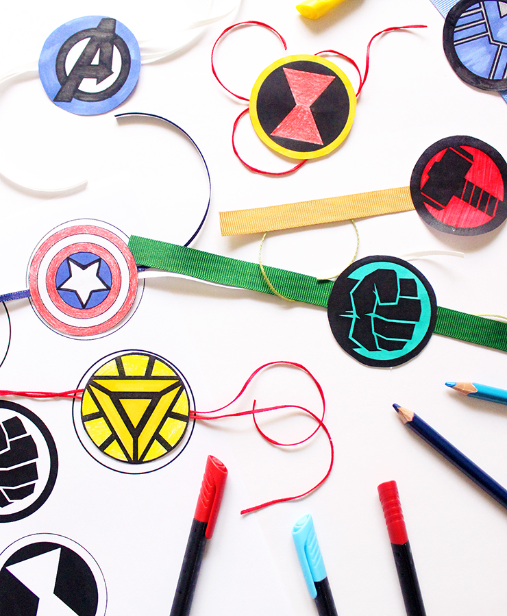 DIY Printable Rakhis with colouring | Marvel Themed | The Craftables Tutorial