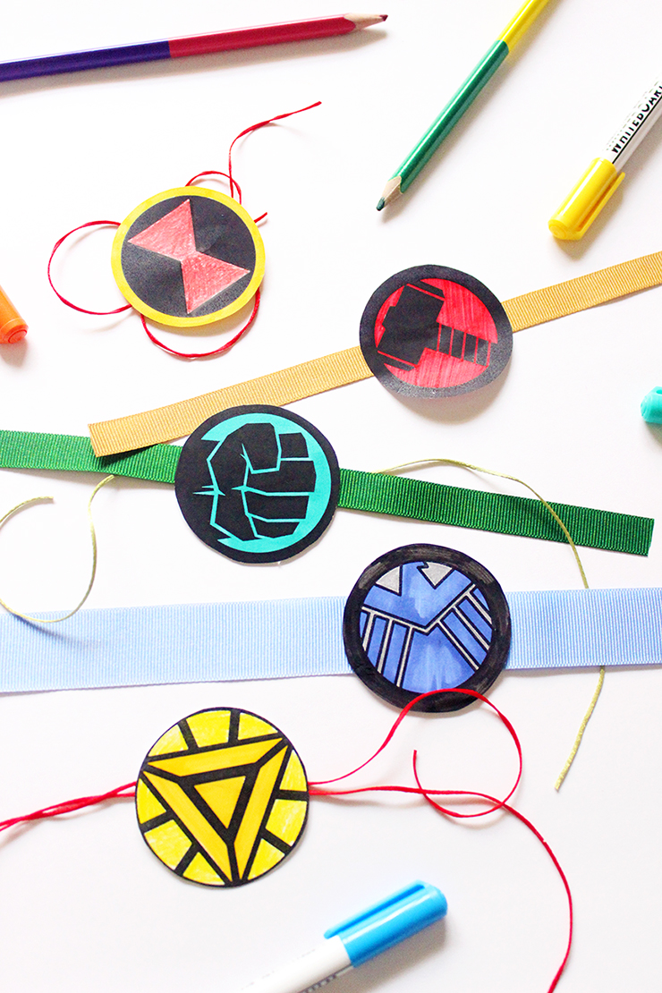 Easy to make kids crafts Colouring Printable Rakhis | Marvel Themed | The Craftables Tutorial