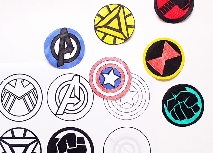 How to make Printable Rakhis with colouring | Avenger Themed | The Craftables Tutorial