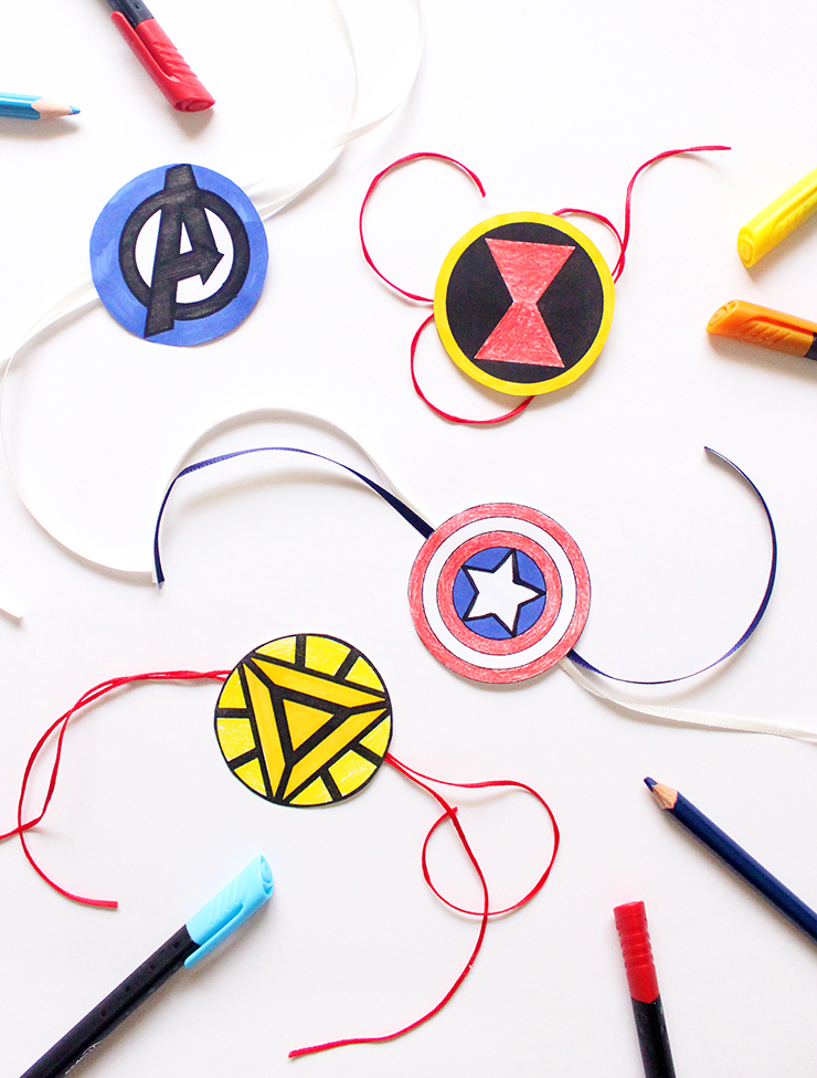 Indian Festive Printable Rakhis with colouring | Marvel Themed | The Craftables Tutorial