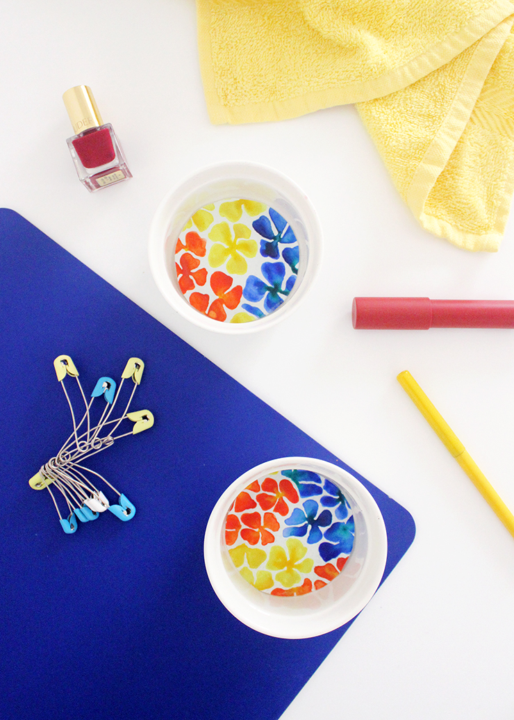 DIY Upcycled Trinket Dishes w/ watercolours!