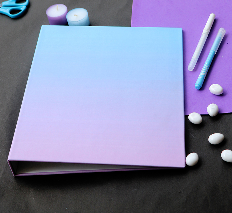 Ombre Stationery Set by The Craftables | Ring Folder for important papers