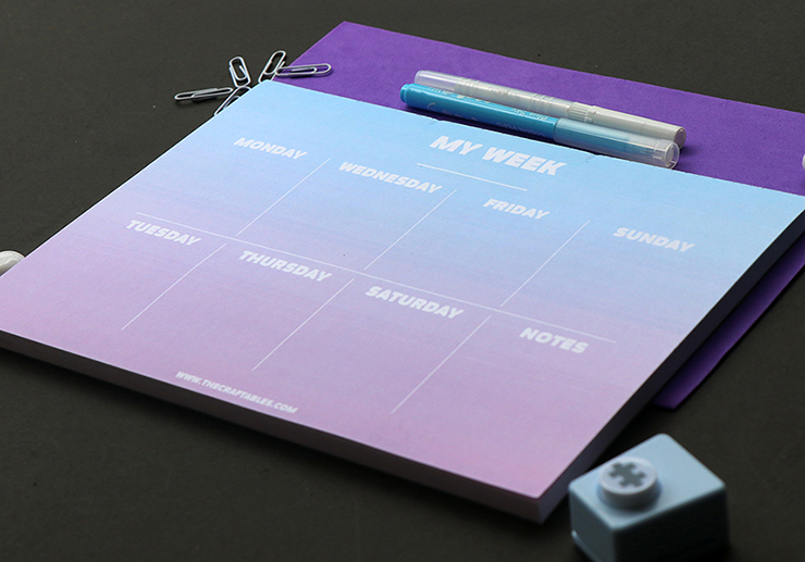 Ombre Stationery Set by The Craftables | Weekly Planner Organiser