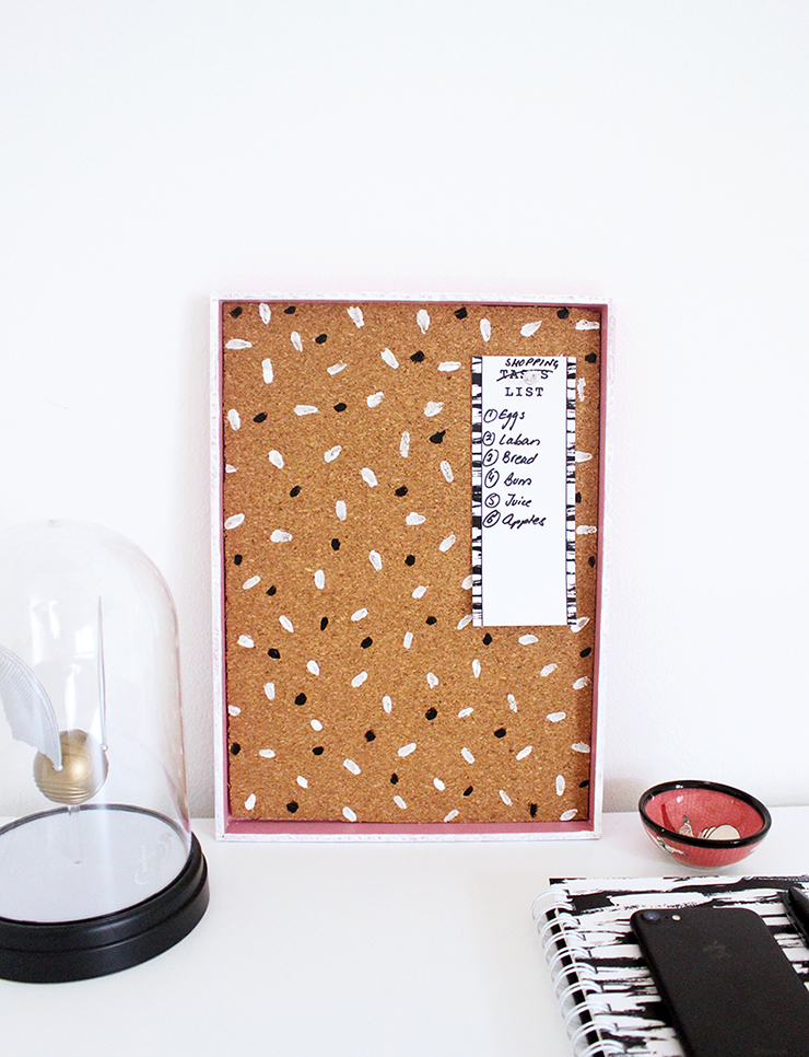 Upcycled Cork Board Tray
