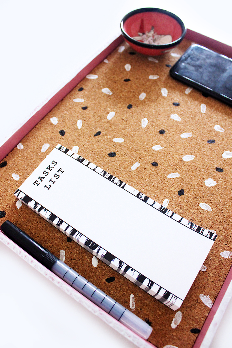 Handmade recycled cork board tray   The Craftables Tutorial