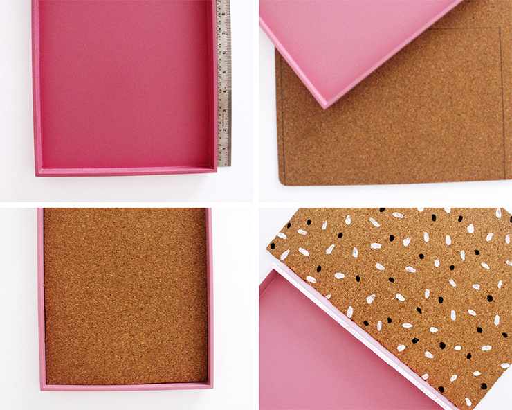 Steps to make an upcycled cork board tray | The Craftables Tutorial